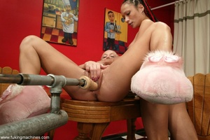 Teen hotties aren't afraid of powerful fucking machines - XXXonXXX - Pic 3