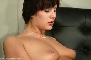 Two huge dildos enter both holes of horny MILF at once - XXXonXXX - Pic 1