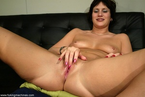 Two huge dildos enter both holes of horny MILF at once - XXXonXXX - Pic 9