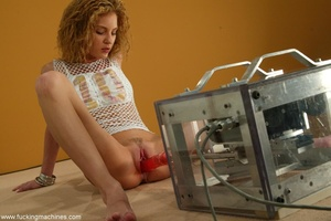 Chick with small tits and wide puss gets fucked by machine - XXXonXXX - Pic 4