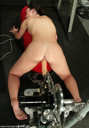 Pale-skinned girl gets bonked by robotic sex machine - XXXonXXX - Pic 16