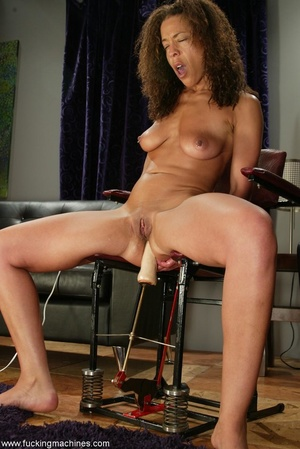Ebony lady gets huge sex toys inside her gentle slits - XXXonXXX - Pic 6