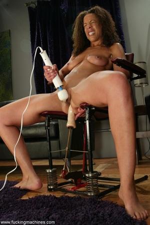 Ebony lady gets huge sex toys inside her gentle slits - XXXonXXX - Pic 7