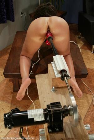 Ebony lady gets huge sex toys inside her gentle slits - XXXonXXX - Pic 13