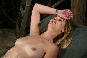 Sexy cowgirl masturbates using sex machine in the barn - XXXonXXX - Pic 15
