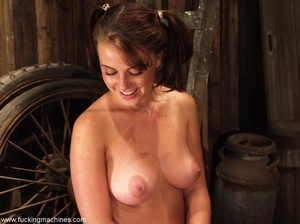 All-natural girl hides in the old barn to do dirty things - XXXonXXX - Pic 10