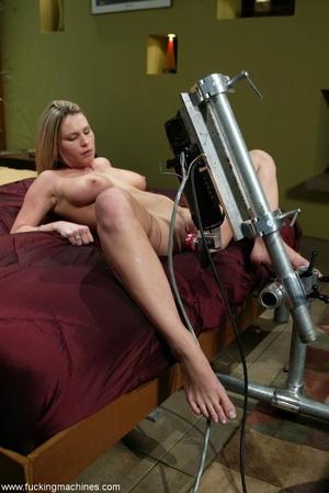 Special masturbating stuff helps blonde to relax alone - XXXonXXX - Pic 4