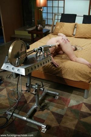 Special masturbating stuff helps blonde to relax alone - XXXonXXX - Pic 6