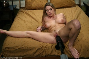 Special masturbating stuff helps blonde to relax alone - XXXonXXX - Pic 10