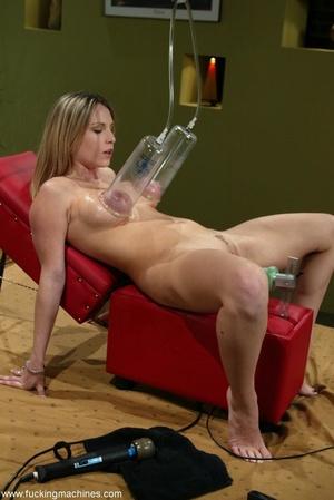 Special masturbating stuff helps blonde to relax alone - XXXonXXX - Pic 13