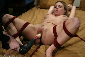 Special masturbating stuff helps blonde to relax alone - XXXonXXX - Pic 16