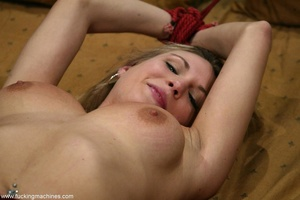 Special masturbating stuff helps blonde to relax alone - XXXonXXX - Pic 18