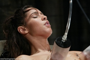 Juicy vagina of young lassie welcomes mechanized dildo - XXXonXXX - Pic 7