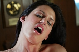 Smiling lady gets her pussy stretched by mechanized dildo - XXXonXXX - Pic 14