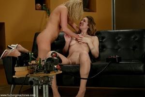 Hardcore lesbians take a long ride on fucking machines - XXXonXXX - Pic 16