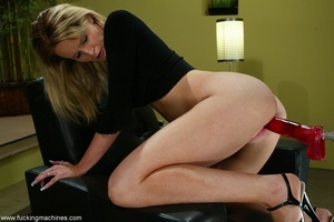 Long-legged blonde brings machine driven dildos into play - XXXonXXX - Pic 8