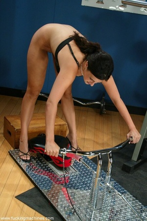 Busty girl touches her nipples while riding sybian machine - XXXonXXX - Pic 4