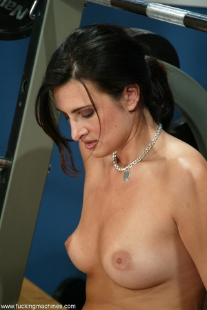 Busty girl touches her nipples while riding sybian machine - XXXonXXX - Pic 6