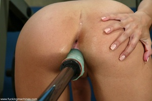 Busty girl touches her nipples while riding sybian machine - XXXonXXX - Pic 8