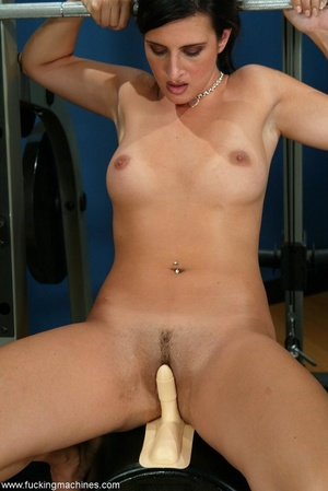 Busty girl touches her nipples while riding sybian machine - XXXonXXX - Pic 11