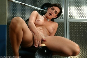 Busty girl touches her nipples while riding sybian machine - XXXonXXX - Pic 13