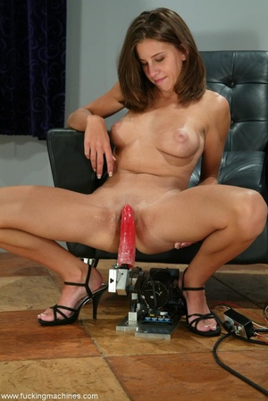 Girl with beautiful tits loves fucking with sex machines - XXXonXXX - Pic 9