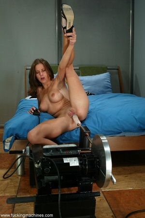 Girl with beautiful tits loves fucking with sex machines - XXXonXXX - Pic 13