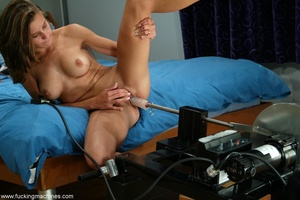 Girl with beautiful tits loves fucking with sex machines - XXXonXXX - Pic 14