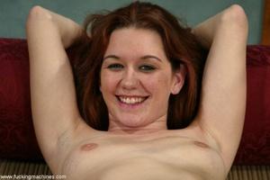 Lady puts condom on dildo machine before a brutal anal sex - XXXonXXX - Pic 18