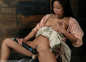 Nasty woman with hot ass got penetrated by dildo machines - XXXonXXX - Pic 4