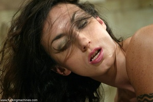 Flexible lady stimulates orgasm after a good machine fuck - XXXonXXX - Pic 3