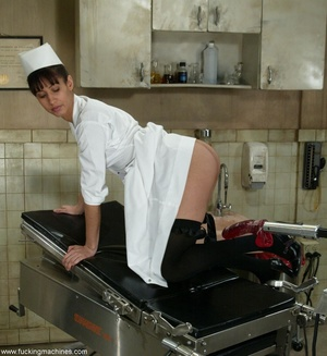 Lovely doctor got horny with mechanized dildos at work - XXXonXXX - Pic 5