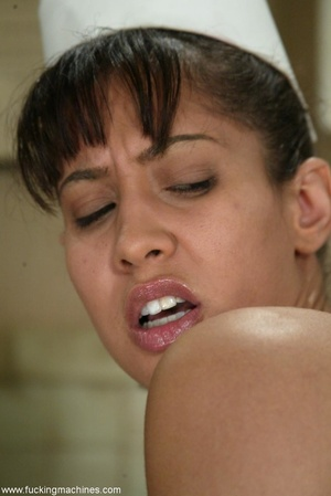 Lovely doctor got horny with mechanized dildos at work - XXXonXXX - Pic 6