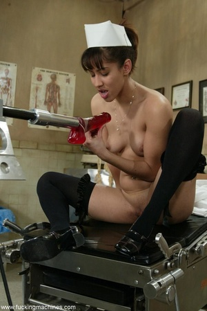 Lovely doctor got horny with mechanized dildos at work - XXXonXXX - Pic 7