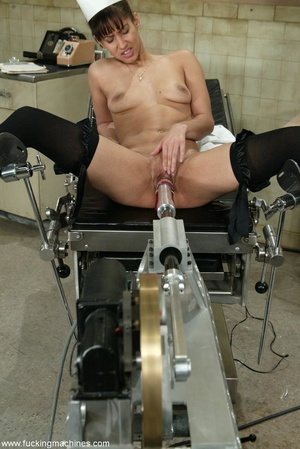Lovely doctor got horny with mechanized dildos at work - XXXonXXX - Pic 8