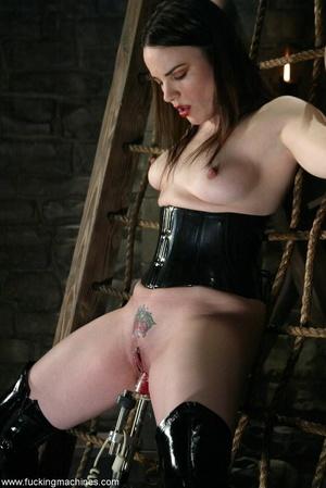 Busty MILF bound in chains got deep fucked by sex machines - XXXonXXX - Pic 5