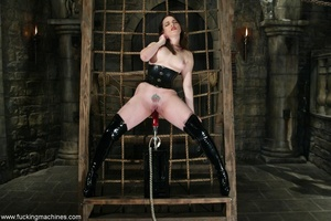Busty MILF bound in chains got deep fucked by sex machines - XXXonXXX - Pic 8