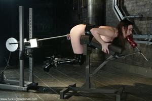 Busty MILF bound in chains got deep fucked by sex machines - XXXonXXX - Pic 13