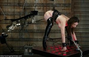 Busty MILF bound in chains got deep fucked by sex machines - XXXonXXX - Pic 16