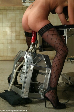 Young lady with hot legs rides vibrator machine very hard - XXXonXXX - Pic 2