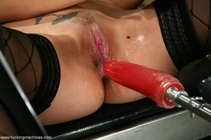 Young lady with hot legs rides vibrator machine very hard - XXXonXXX - Pic 4