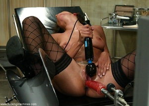Young lady with hot legs rides vibrator machine very hard - XXXonXXX - Pic 9