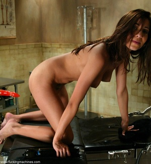 Young lady with hot legs rides vibrator machine very hard - XXXonXXX - Pic 13