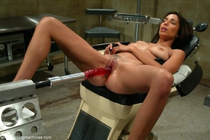 Young lady with hot legs rides vibrator machine very hard - XXXonXXX - Pic 16