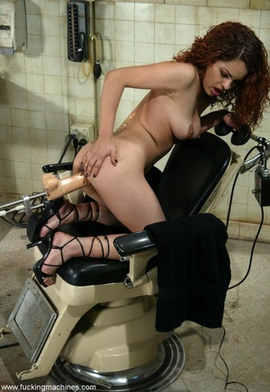 Girl gets her ass-slapped while fucking with sex machine - XXXonXXX - Pic 9