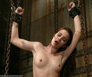 Dildos strapped to machines brutally banged girl's pussy - XXXonXXX - Pic 7