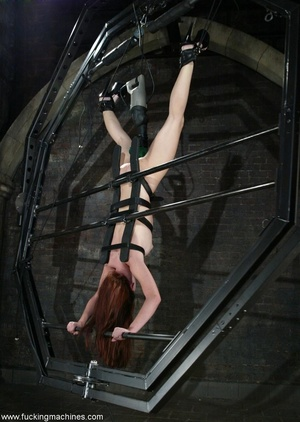 Dildos strapped to machines brutally banged girl's pussy - XXXonXXX - Pic 10