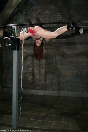 Dildos strapped to machines brutally banged girl's pussy - XXXonXXX - Pic 14