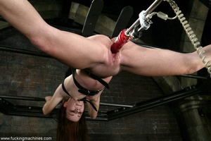 Dildos strapped to machines brutally banged girl's pussy - XXXonXXX - Pic 17