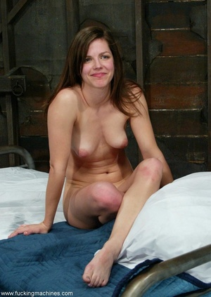 Woman with natural tits has a great time with dildo machines - XXXonXXX - Pic 18